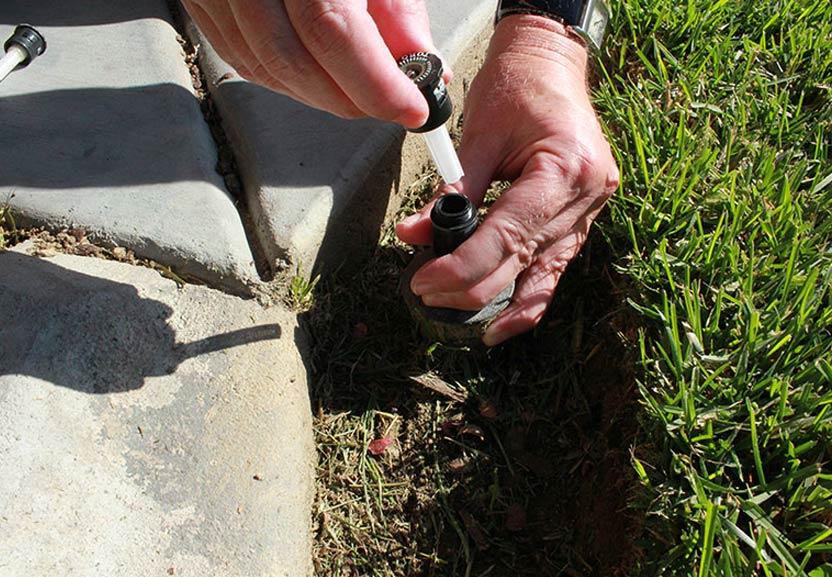 a sprinkler head repair