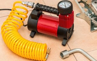 air compressor used for a sprinkler system blow out