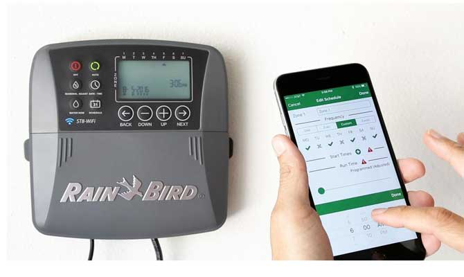 RainBird smart sprinkler controller