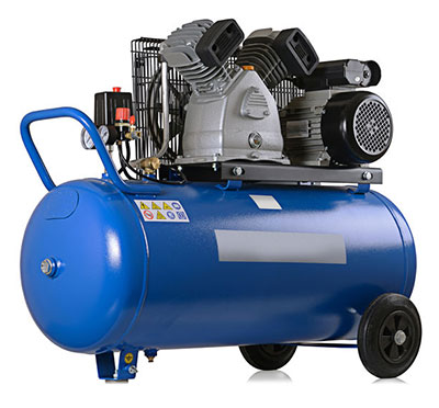 Air compressor used to winterize sprinkler systems in Lakewood, Colorado