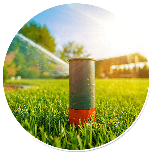 pop up sprinkler head waters lawn